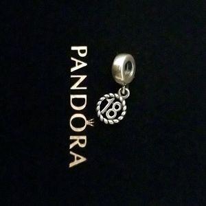 Pandora 18th birthday charm
